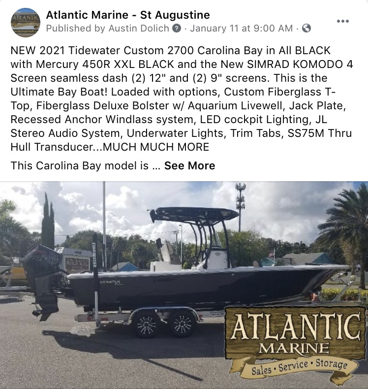 Social Media Marketing-Atlantic Marine - St Augustine