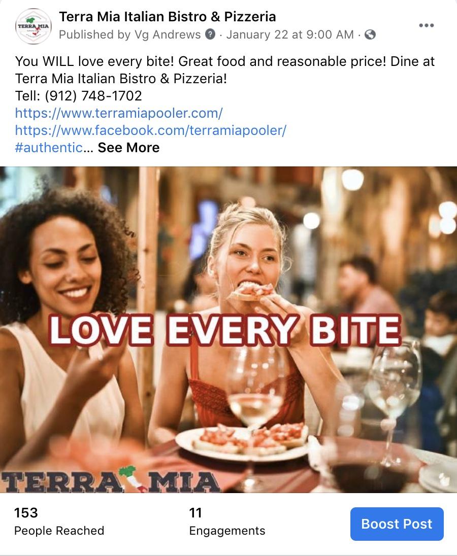 Social Media Marketing-Terra Mia